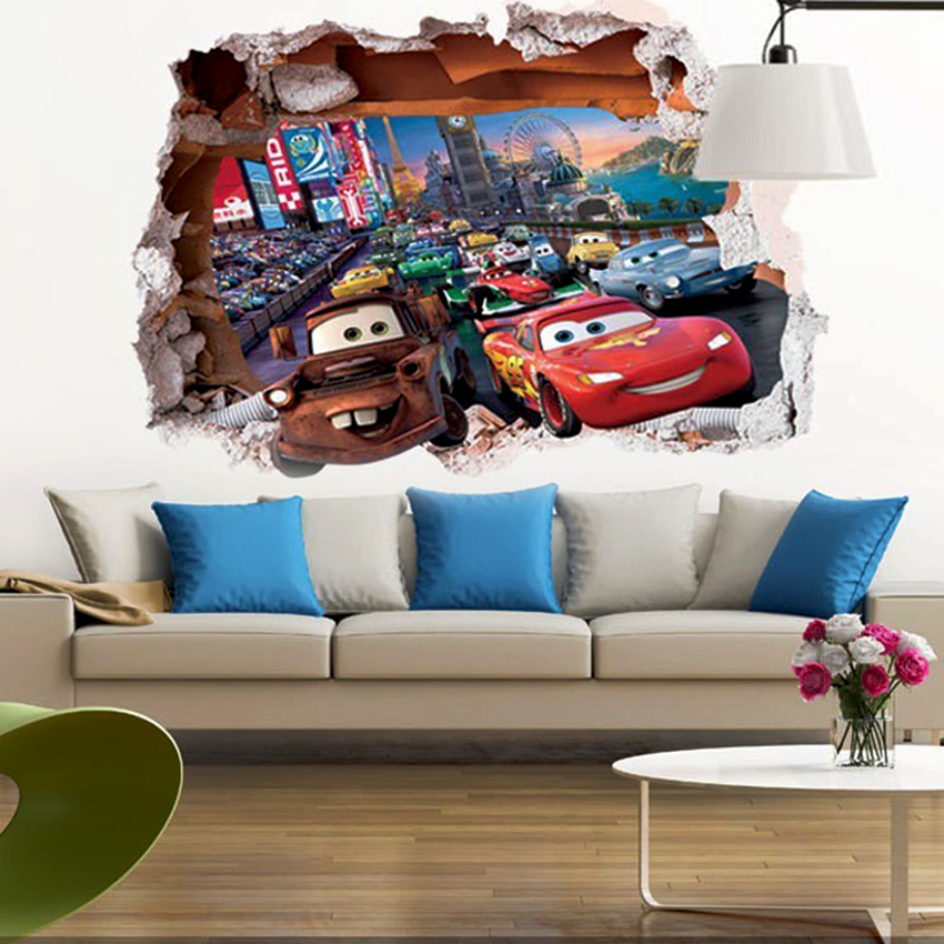 Buy lovely colorful cartoon animal zoo kids rooms decal ...