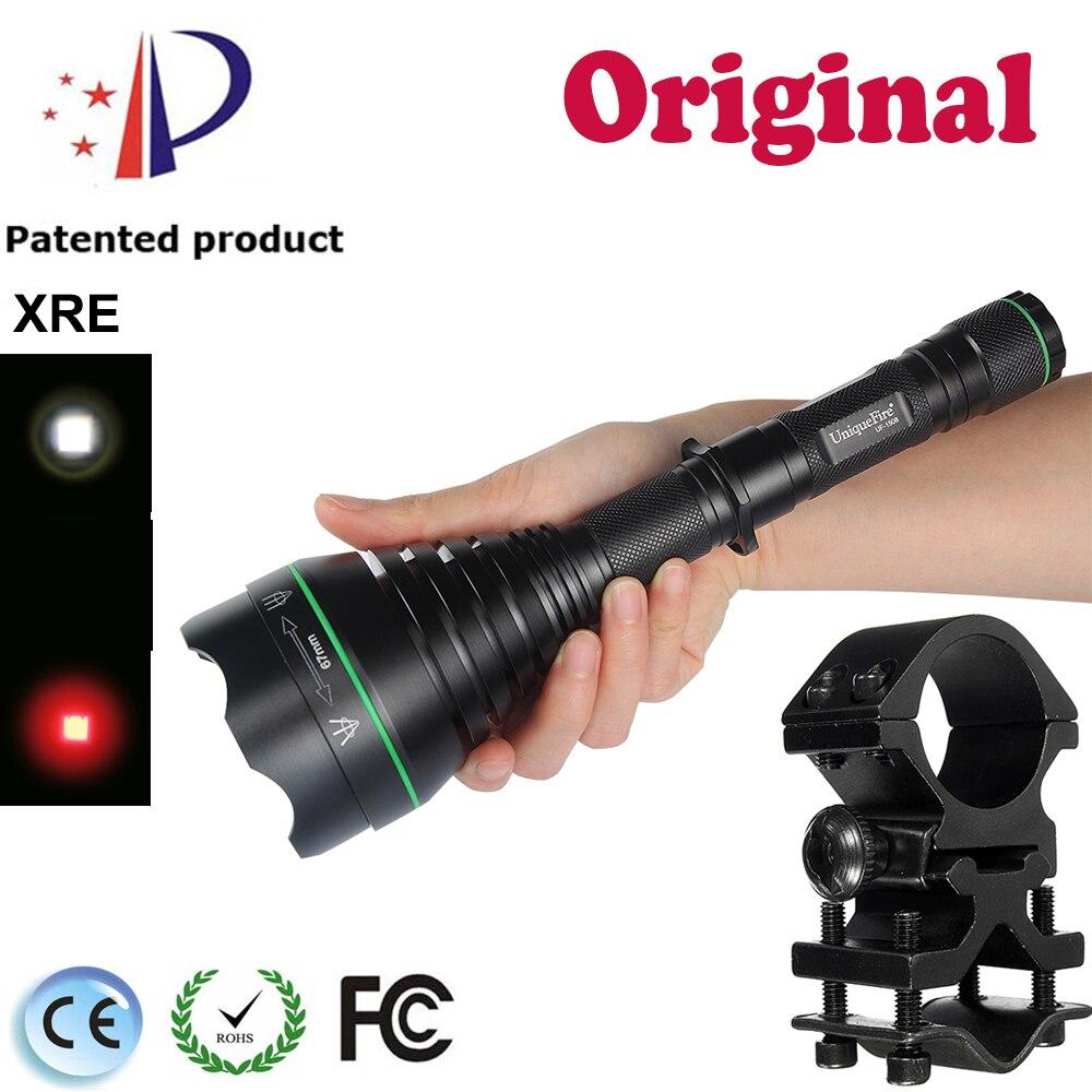 UF-1508 XRE 67mm nouveauté éclairage lampe de poche LED 3 Modes convexe lentille torche Rechargeable Zoomable lampe + portée montage