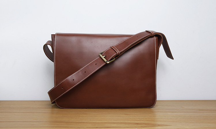 LAN mens leather crossbody bag single shoulder bag fashion concise leather messenger bag