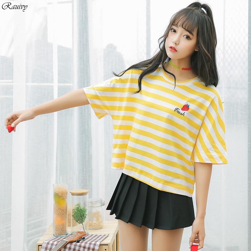 summer 2017 korean style striped shirt ulzzang harajuku ...