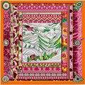 Peregrinação do Palácio de Potala Impresso Cachecóis E Xales das mulheres Lenço de Seda Lenço de Sarja de Seda Tendência Nacional Tibet Palácio de Potala Tippet
