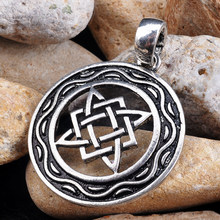 Silver Slavic Amulet Jewelry Star of Russia Symbol Charm Talisman Ethnic Jewelry Wheel Pendant(China)