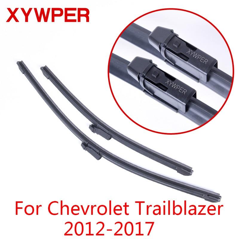 XYWPER Wischerblätter für Chevrolet Trailblazer 2012 2013 2014 2015 2016 2017 Auto Zubehör Soft Rubber scheibenwischer