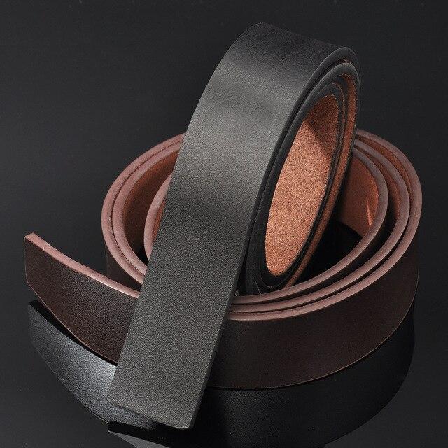 Cinturón de cuero genuino para hombre Cinturón de piel de vaca cinturón formal traje pantalones Cinturón de piel de vaca sin hebilla suave starp regalo para hombres cinturones