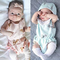 Infant Baby Girls Clothes Rabbit Bunny Print Bodysuit Sleeveless Cute Cotton Jumpsuit Outfits Sunsuit Baby Girl Clothing US