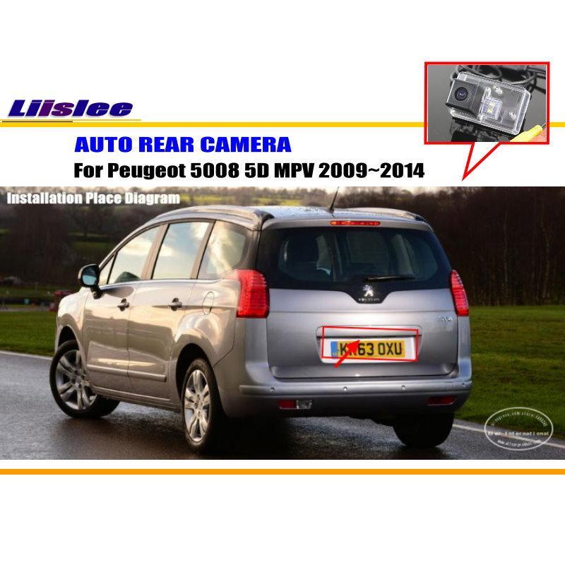 Liislee Автомобильная камера заднего вида для peugeot 5008 5D MPV 2009~ /задняя парковочная камера/HD CCD RCA NTST PAL/номерной знак свет CAM
