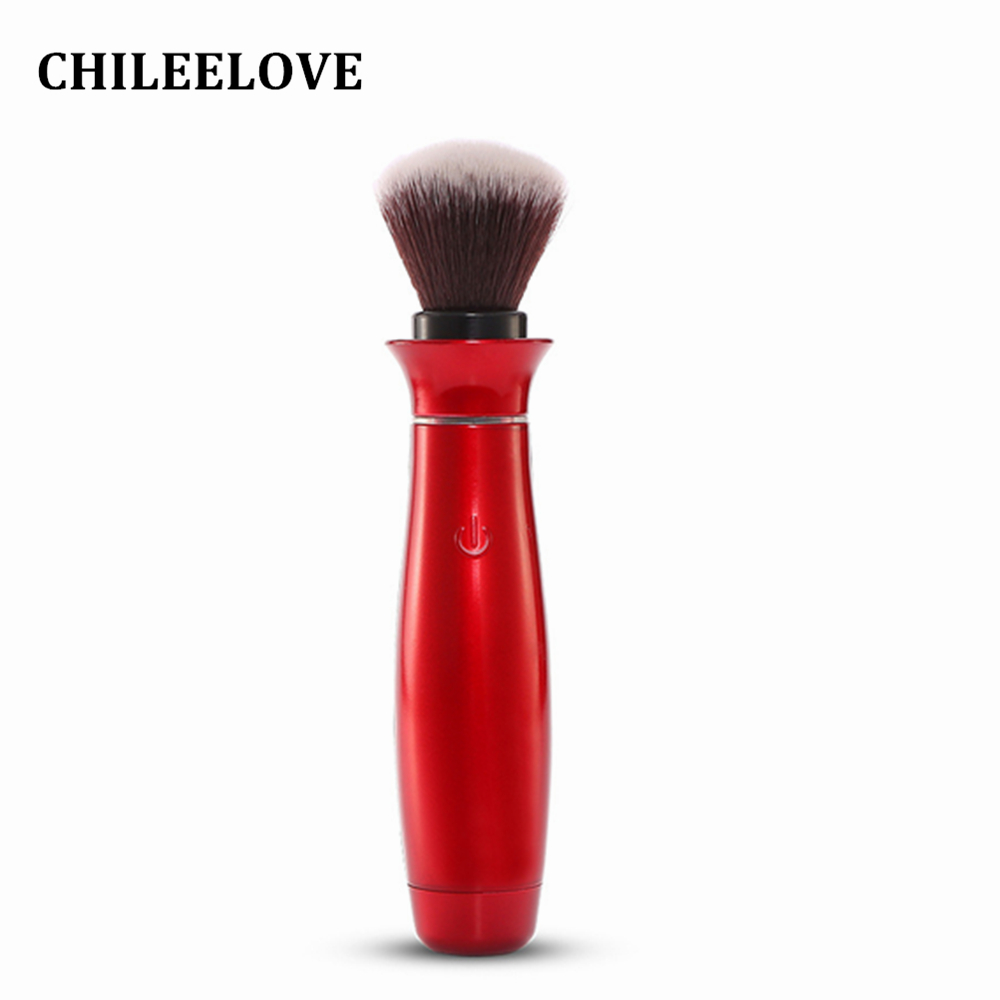 CHILEELOVE 360 Degree Rotating Head Electric Makeup Brush Professional Cosmetic Make Up Tool For Foundation BB Cream Powder professional bullet style cosmetic make up foundation soft brush golden white