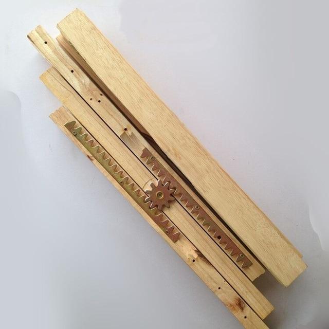 2pcs 1 Pair Lot Premintehdw Hardwood Oak Table Slides Wood Slide Extension