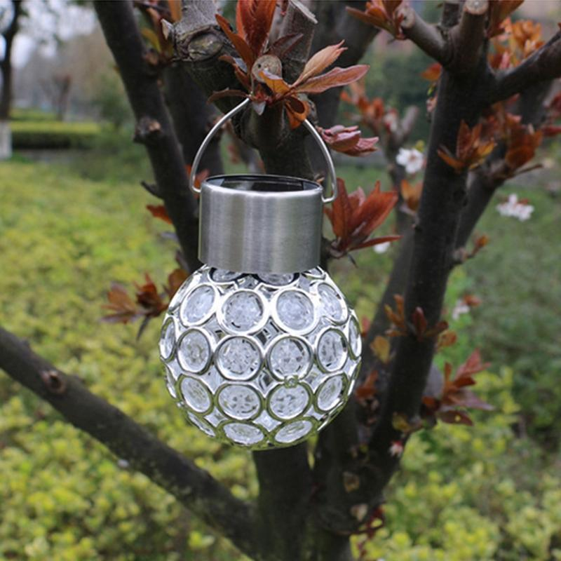 AKDSteel Водонепроницаемый Солнечный свет висит Павлиний глаз светодиодный лампы Открытый Сад Двор Газон улица забор Декор свет
