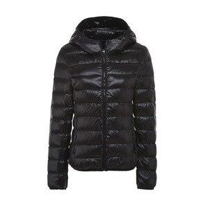 Image 4 - 5XL 6XL 7XL חורף נשים קל במיוחד ברווז למטה מעיל נשים ארוך שרוול מעילים חם סלעית מעיל Parka נקבה להאריך ימים יותר בתוספת גודל