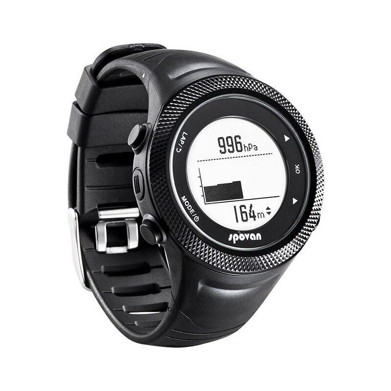 SUNROAD новые мужские часы с пульсом компас шагомер высотомер 5ATM водонепроницаемые цифровые зажимные спортивные часы Relogio - 5