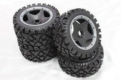 1/5 baja 5B All Terrain Tyres / all terrain tires 4pcs/set for hpi km rv baja 5b ss