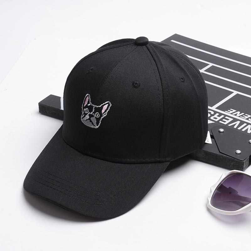 bfeb8637f58 ... 2018 New Arrival Gorras Korea Ulzzang Harajuku Cute Puppy Snapback Hats  Embroidery Baseball Cap For Men ...