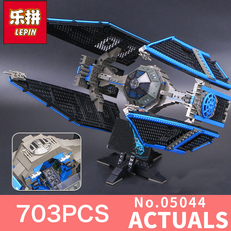 lepin 05044 star wars limited edition tie fighter Interceptor LegoINGlys 7181 bricks model building kits blocks toys for boys конструктор lepin star plan истребитель tie interceptor 703 дет 05044