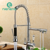 Nieneng Cold And Hot Water Pure Water Save Mixer Tap Faucet Kitchen Sink Faucet Sprayer Chrome