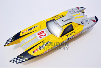 G30K ARTR Fiberglass RC Racing Boat 30CC Engine Water Cooling Sys Exhaust' Sys Yellow TH02705 1