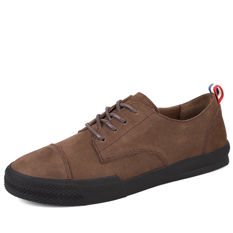 Men's Casual Shoes Genuine Leather Shoes Lace Up mens shoes casual High Quality shoes men  Brown Black Size 37-44 zdrd new fashion genuine leather men business casual shoes british low top lace up suede leather mens shoes brown red men shoes