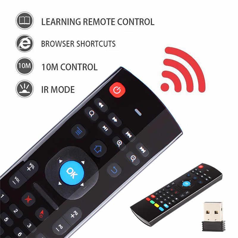 MX3 MX3-L podświetlany myszy powietrza T3 inteligentny pilot zdalnego sterowania 2.4G RF bezprzewodowa klawiatura dla X96 Tx3 Mini A95X H96 pro Android TV Box