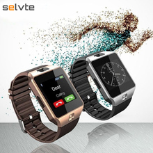 Selvte Smart Watch Dz09 with Camera Bluetooth SIM Card Fitness Tracker Universal for Ios Android Phones Support Multi Language