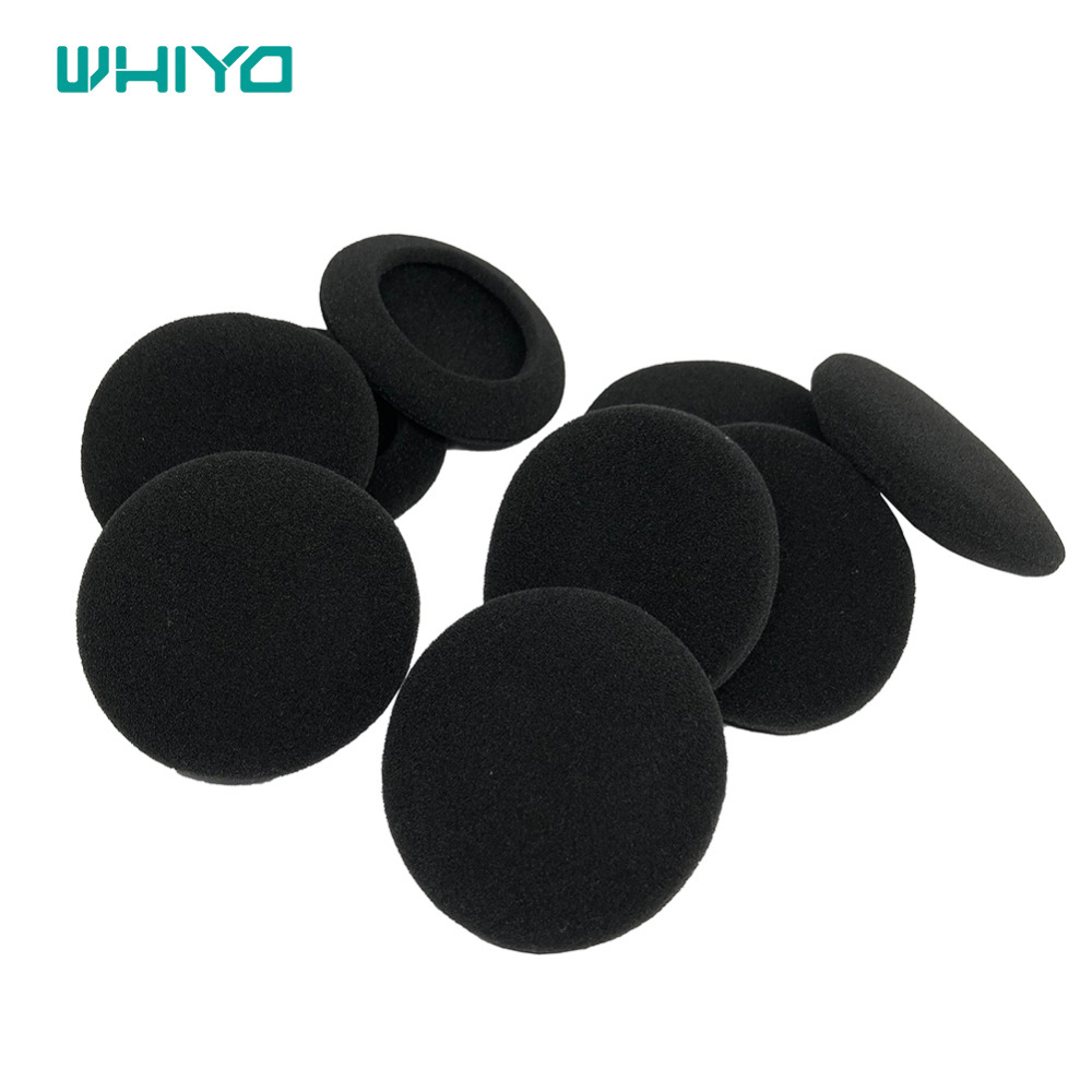 "10 Pairs 60mm//2.4/"" Replacement Foam Ear Pud Earpads Sponge Cushion Covers"