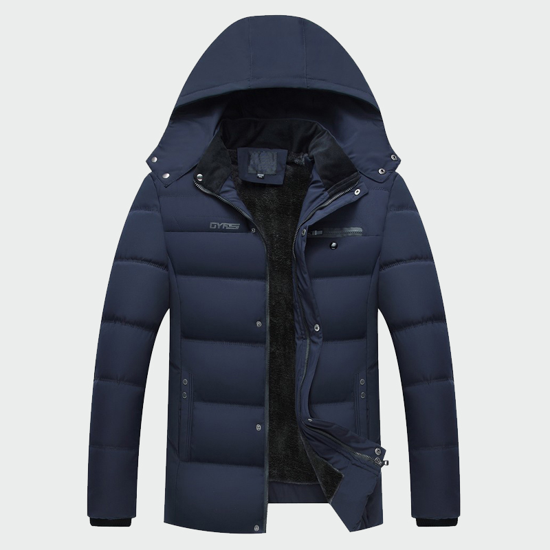 2019 Winter Men's Thick Coats Warm Male Jackets  Thermal Parka  Padded Casual Hooded New Men Overcoats Mens Brand Clothing(China)