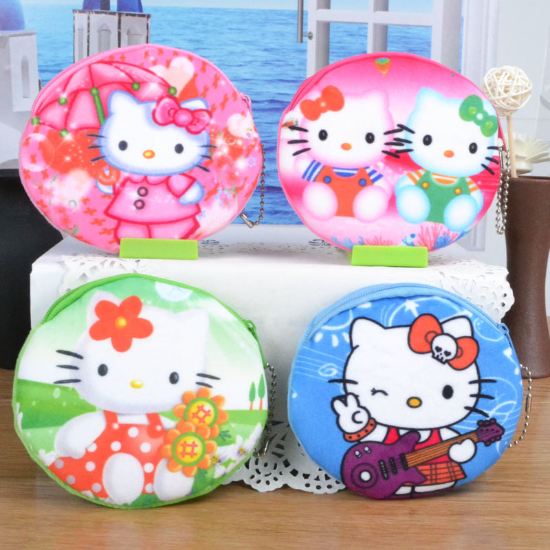 2017 New Coin Purse Character Lady's Purses Plush Hello Kitty Kids Wallet Girl Storage Bag Case Handbag Women Mini Wallets new cute hello kitty handbag pink red girls purse cartoon cat coin bag ladies keychain wallets zipper key holder cash case
