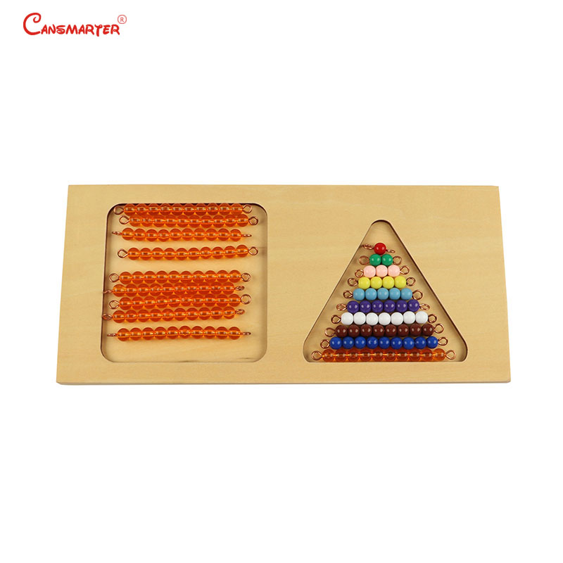 3-6 Years Montessori Math Toys Materials Wooden Beads Board Numbers Practice Home Math Toy for Children Games Preschool MA094-3