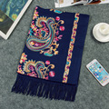 Luxury Scarf Women Winter Scarf Wool Cashmere Shawl Embroidery Women Ethnic Paisley Scarves Cashew Cashmere Scarf Muslim Hajib