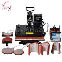 1pcs 8 In 1 Combo Heat Transfer Machine Sublimation/Heat Press Machine For Plate/Mug/Cap/TShirt /Phone case