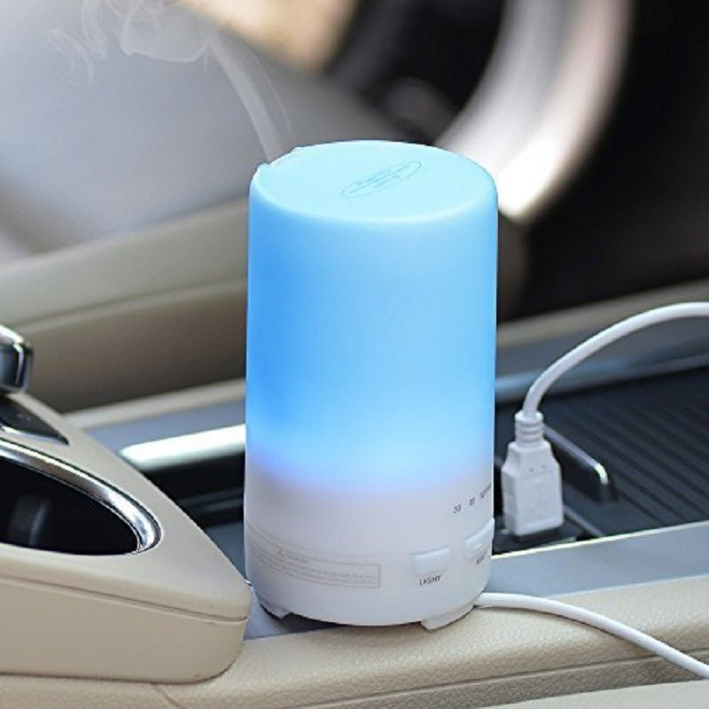 USB Ultrasonic Humidifier Essential Oil Ultrasonic Dry Electric Fragrance Diffuser Aromatherapy Car Humidifier LED Night Light