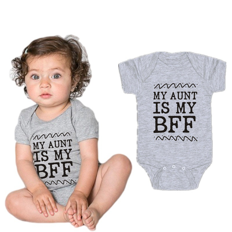 New Hot Sales Baby Gril Unisex Baby Boy Aunt Onesie Auntie Aunt Baby Clothes Jumpsuit Baby Clothing скуби ду лего