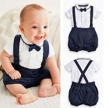 Верхняя одежда для маленьких мальчиков топы+ брюки с нагрудником комбинезоны+ галстук-бабочка, комплект одежды из 3 предметов для малышей одежда для мужчин 12, 18, 24 месяцев