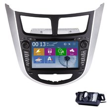 "2 din 7 ""GPS Del Coche de Radio Estéreo Reproductor de DVD para Hyundai Verna Pantalla Táctil con Bluetooth + tarjeta de mapa Libre DEL GPS + cámara trasera"