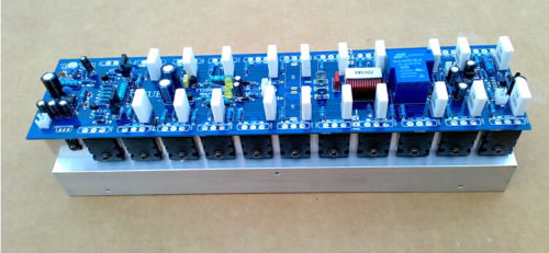 Assembled 1200W Powerful amplifier board/mono amp board with heatsink