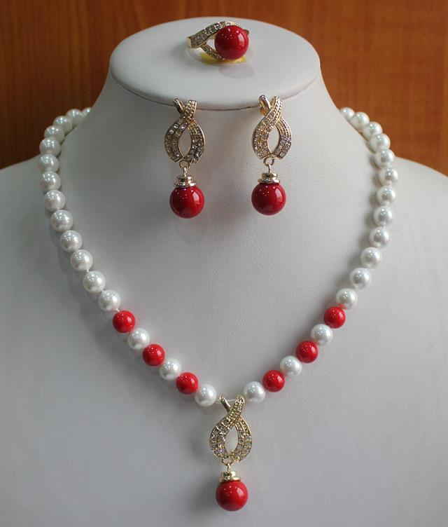 Prett Lovely Women's Wedding The lady's jewelry set is engaged.-nsgikgikuhi