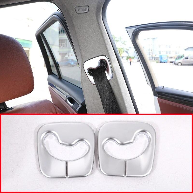 Chrome Interior Molding Safety Belt Cover Trim For BMW X3