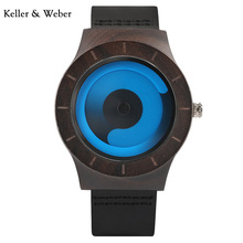 KW New Arrival Womens Fashion Wooden Watches Quartz Movement with Unique Turntable Dial Leather Strap Clock Gifts