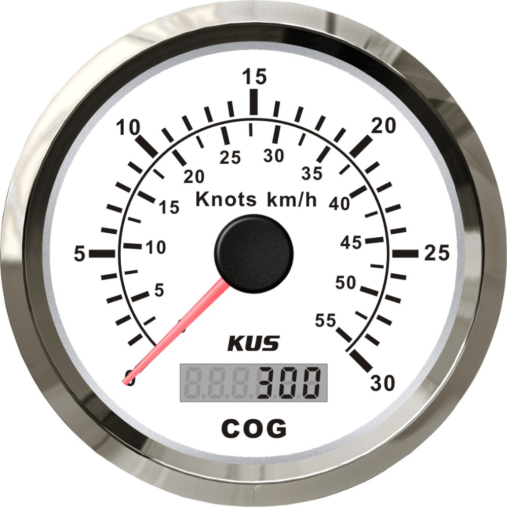 KUS Universal GPS Speedometer Speed Gauge 30Knots 55KM H With Course For Boat Yachts 85mm With