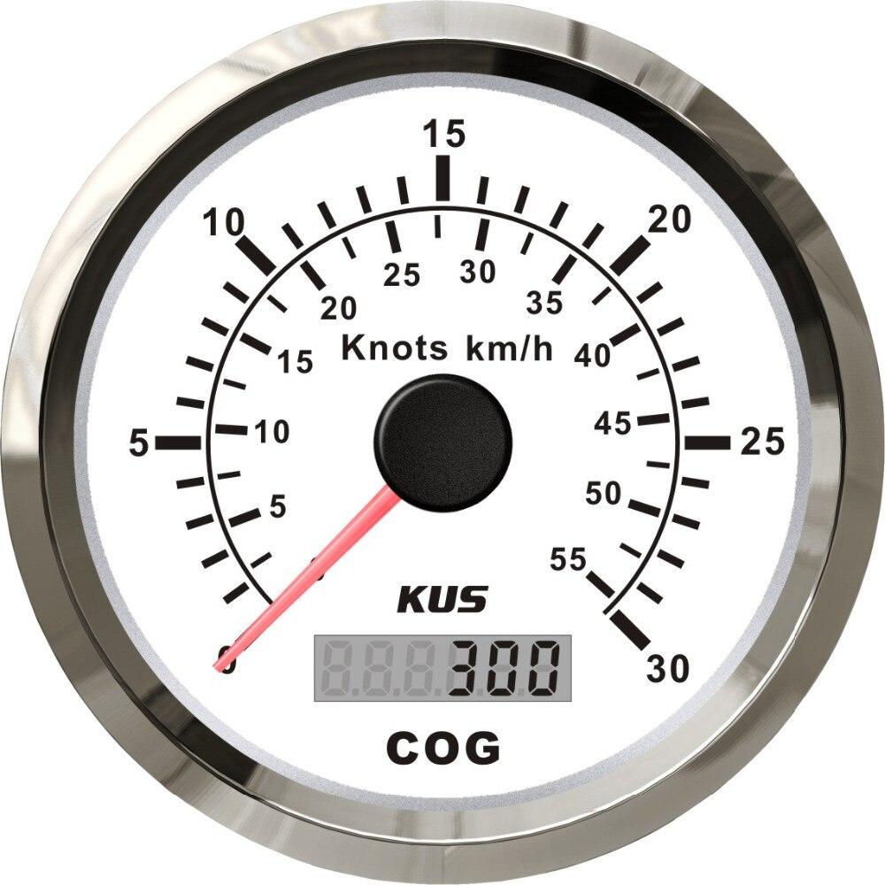 ホークスユニバーサル GPS スピードメーターゲージ 30 ノット 55 コースボートヨット付き毎時 85 ミリメートルとバックライト  グループ上の 自動車 &バイク からの 速度計 の中 1
