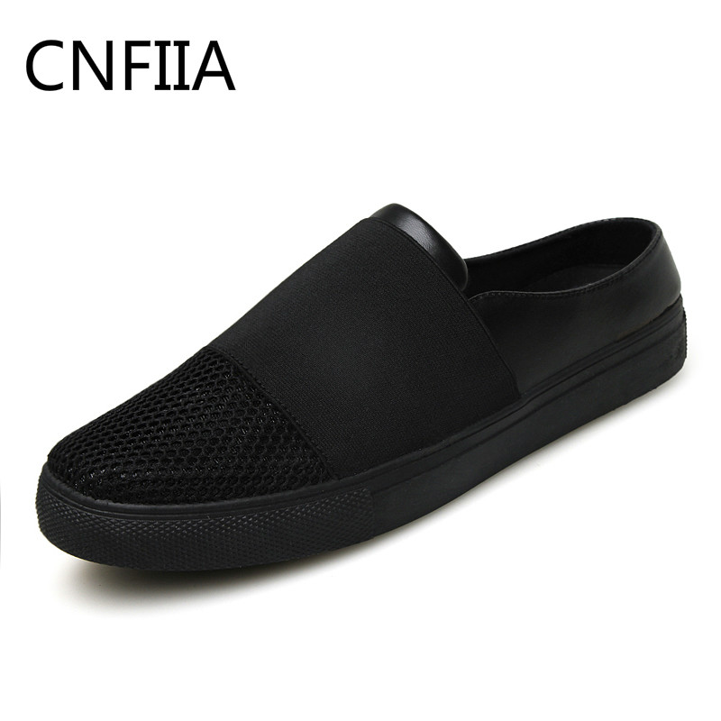 CNFIIA Black Men Shoes Mens Shoes Casual Sneakers 2018 Mesh Breathable New Slip on Shoes Fashion Loafers Lightweight Comfortable male lightweight breathable mesh slip on shoes