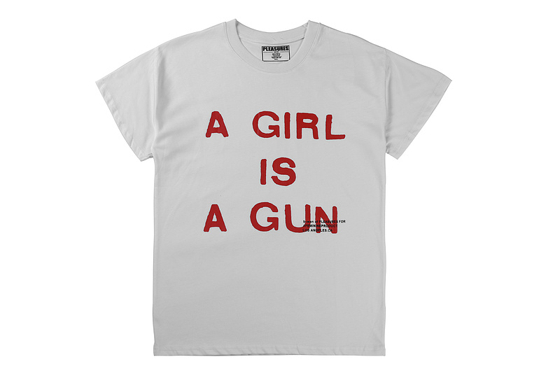2019ss Summer Pleasures Style A GIRL IS A GUN Printed Women Men T Shirts Tees Hiphop Streetwear Men Cotton Short Sleeve T Shirt