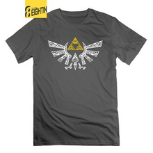 The Legend Of Zelda T Shirt Zelda Hyrule di Doodle Dell'annata 100% Cotone Magliette e camicette Magliette O Collo Graphic Uomo Manica Corta t-shirt(China)