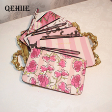 2018 New Well-known Brand Fashion Woman Cosmetic Bags PU Card Mobile Phone Money