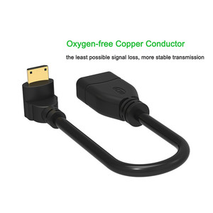 Image 5 - Angle 90 Degree HDMI Extension Converter Mini HDMI Male to HDMI Type A Female Cable Adapter for Tablet PC Camera