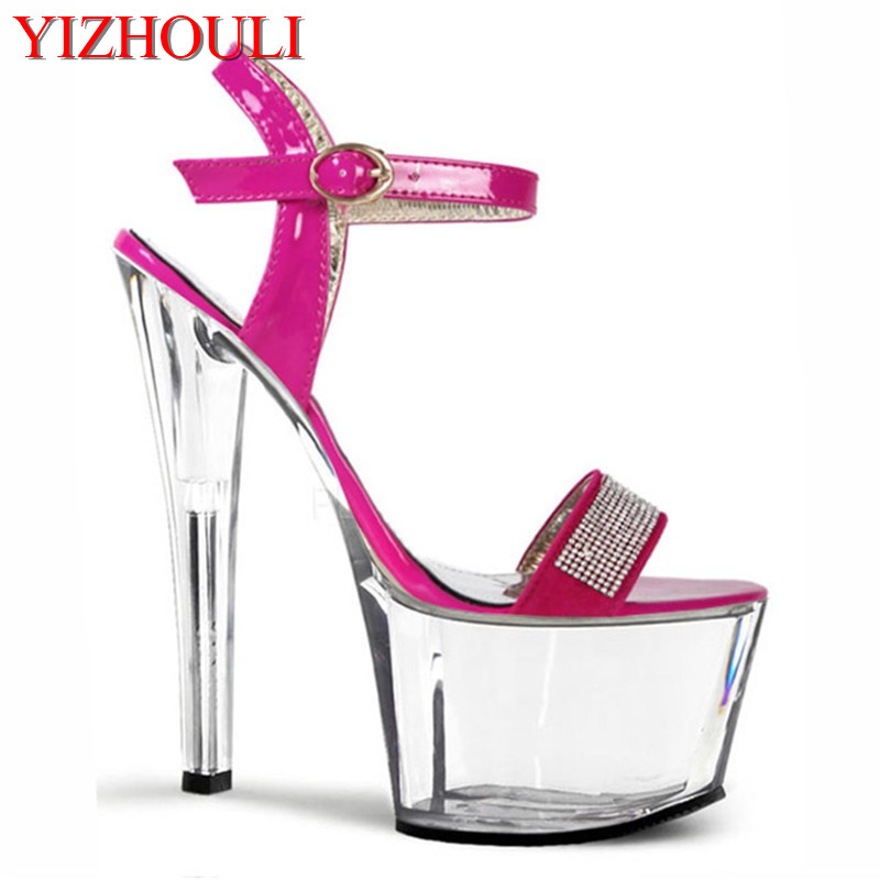 Direct manufacturers hate day high 17 cm high water table nightclub crystal sandals ultra fine with small size shoesDirect manufacturers hate day high 17 cm high water table nightclub crystal sandals ultra fine with small size shoes