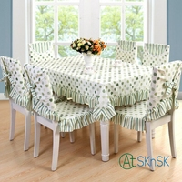 1pcs 4 Color beautiful fabric elegant floral leaves table cloth home wedding decoration vintage striped table cloth for table