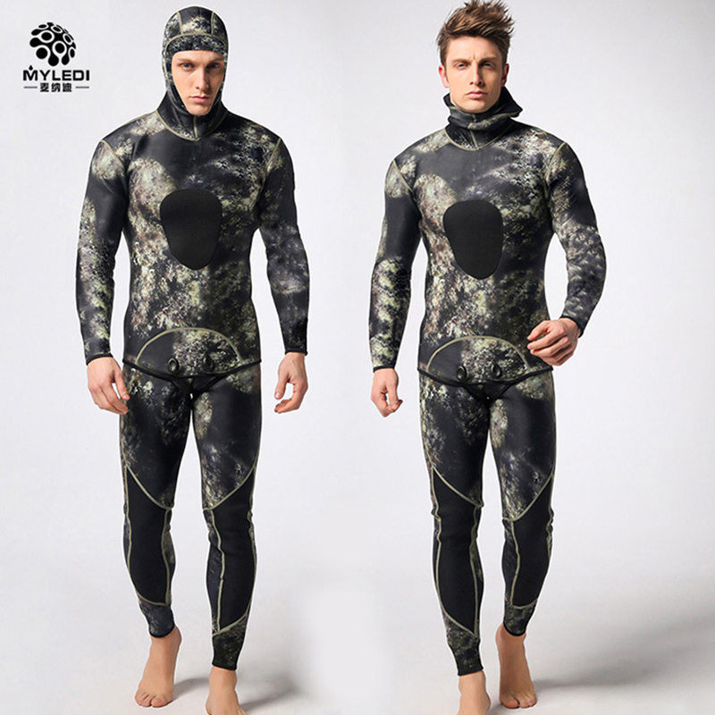 MYLEDI Neoprene Diving Suit 3MM Spearfishing Wetsuit Snorkeling Swimsuit Split Suits Combinaison Surf Wetsuit Scuba Swimwear все цены