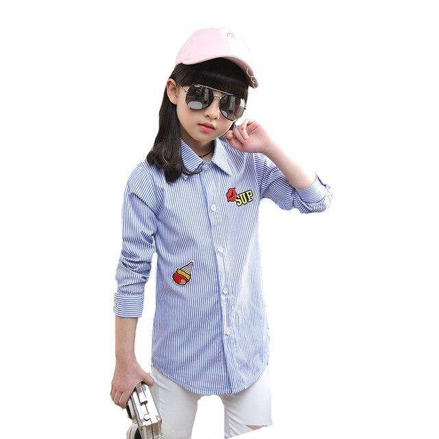 e3323621a Niñas Blusas A Rayas de Manga Larga Camisetas Para Niñas Niños Ropa de la  Historieta niños