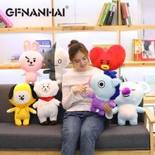 1pc 25cm creative Bangtan Boys BTS BT21 plush toy stuffed soft cute TATA VAN COOKY CHIMMY SHOOKY KOYA RJ MANG pillow kids gift