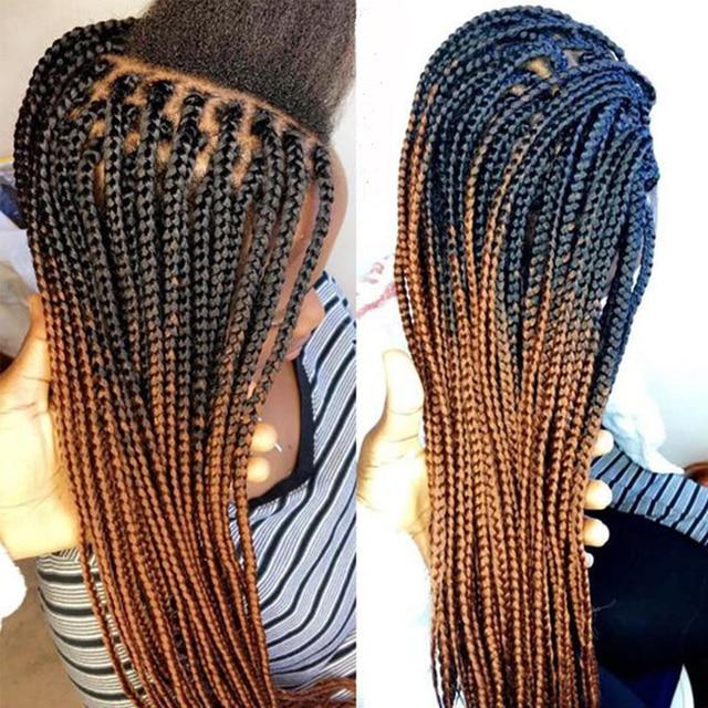 18 Quot Ombre Braiding Hair Box Braid Extensions Crochet